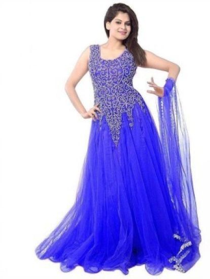 Arya Dress Maker Net Gown (Blue)