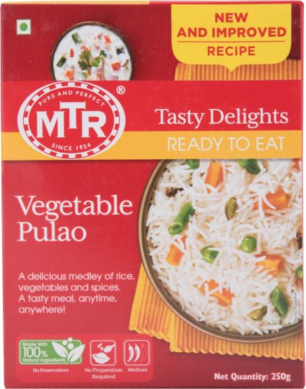 MTR Ready To Eat - Vegetable Pulao 250 g