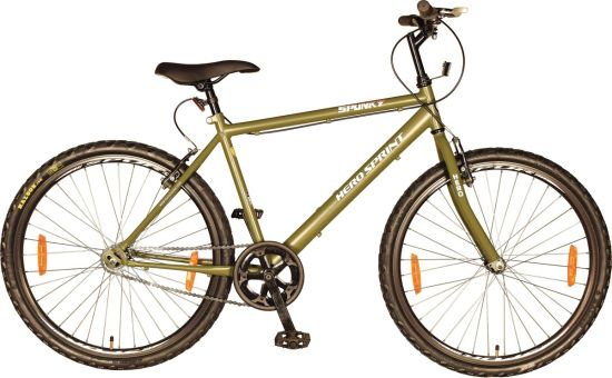 Hero Spunky 26 T Single Speed Road Cycle  (Green)