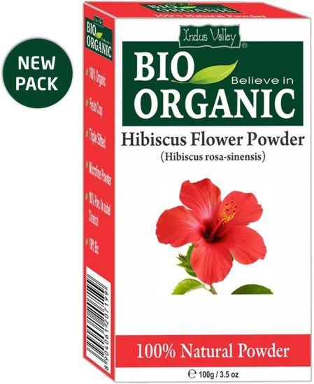 Indus Valley Bio Organic 100 Herbal Hibiscus Powder Twin Pack