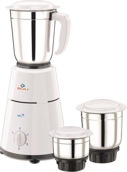Bajaj GX1 500 W Mixer Grinder(White, 3 Jars) at Rs.999