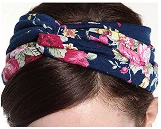 Gugzy Siempre21 Women s Headbands Elastic Turban Head Wrap Floal ... 75c6a106c5e