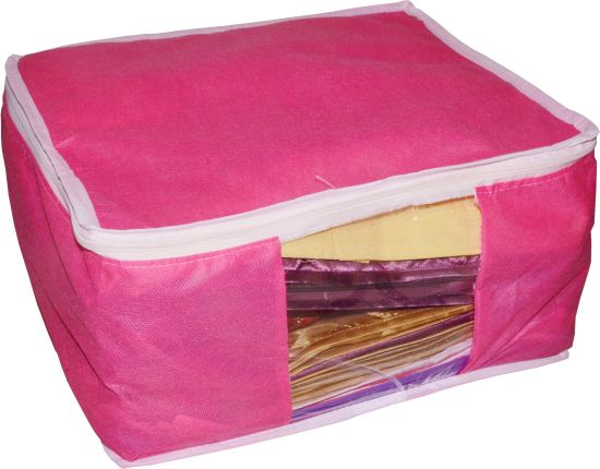 Miraculous Funkroo High Quality Combo Deal Large 10 Inch Bridal 5Pc Pink Saree Cover 5Pc Blue Sari Cover And 5Pc Purple Saree Box T Organizer Bag Vanity Pouch Machost Co Dining Chair Design Ideas Machostcouk