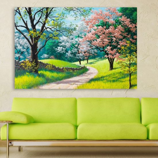Inephos Unframed Canvas Painting Beautiful Nature Modern Art Wall For Living Room Bedroom Office Hotels Drawing Digital Reprint 61