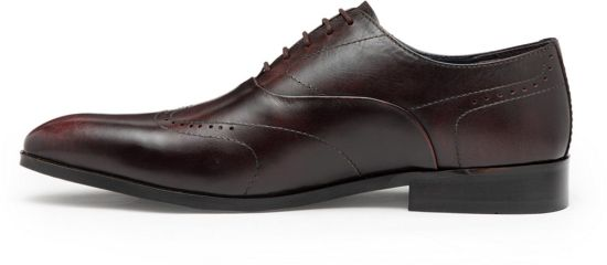 283579c67d6 Hats Off Accessories Premium Oxford Shoes with perforated Detailing Lace Up  For Men (Burgundy)