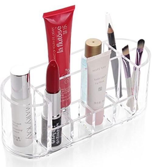 Lemish 8 Slots Acrylic Cosmetic Organizer Makeup Storage Box \u0026 Nail Polish  Lipstick Display Holder Box Cosmetic, make up, Jewellery Vanity Box
