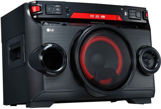 LG OK45 220 W Bluetooth Party Speaker (Black Red Deco, Mono Channel) at Rs.6999