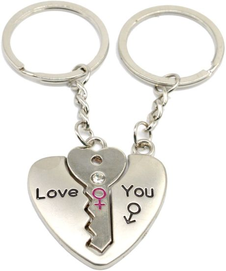 20de9f6d7e 1234. 1234. 1234. ON OFFER. Faynci Love Heart Universal Key with diamond Couple  Heart Key Chain for Gifting ...
