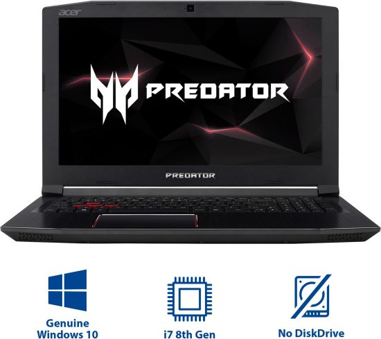 Acer Predator Helios 300 Core i7 8th Gen - (16 GB/1 TB HDD/128 GB  SSD/Windows 10 Home/6 GB Graphics) PH315-51-73BH Gaming Laptop
