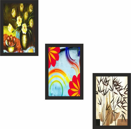 Jazz My Mobile Wall Painting Set of 3 | Digital Reprint 12 inch x 8 inch  Painting