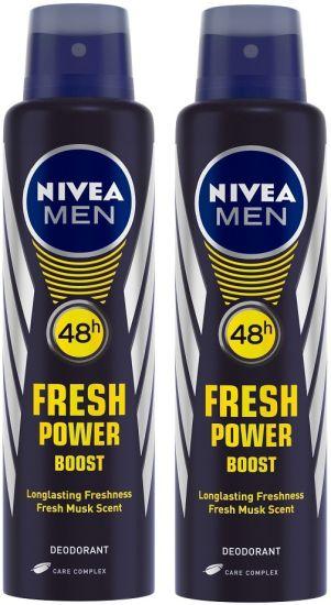 Nivea Men Fresh Power Boost Deodorant Body Spray - For Men (300 ml, Pack of 2) at Rs. 188
