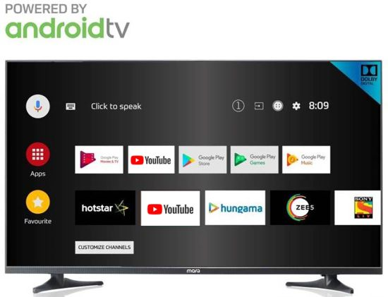 MarQ by Flipkart 108 cm (43) Full HD LED Smart Android TV with Ultra Thin Bezel (43SAFHD) at Rs.21,999