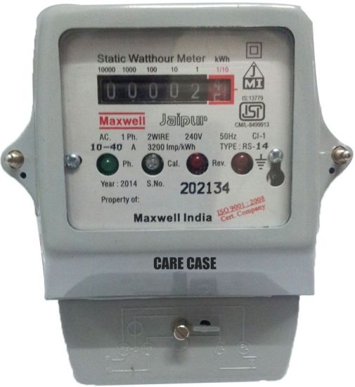 Care Case Single Phase Submeter / Energy And Electricity Meter Metal