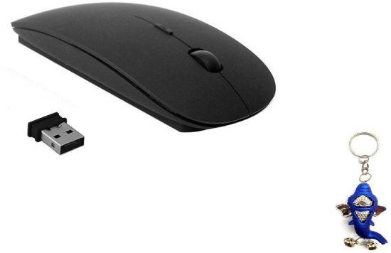 Terabyte Ultra Slim Black Wireless Optical Mouse  (USB, Black)