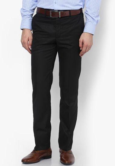 5a692978668b45 Color Swatch. Select other color variants. Black. Blue. Brown. GREY. AD & AV  Regular Fit Men Black Trousers
