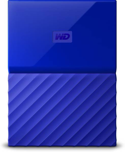 WD My Passport WDBYNN0010BBK-WESN 1TB External Hard Disk (Blue)