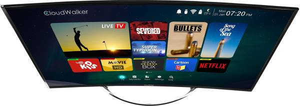 Cloudwalker  55 Inches Ultra HD (4K) LED Smart TV (CLOUD 55SU, Black)