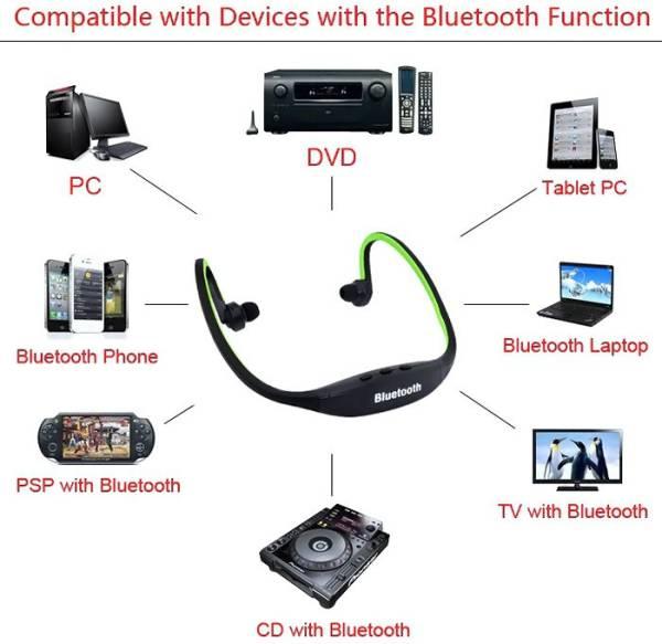 Avenue Wireless Bluetooth Headset (Multicolor)