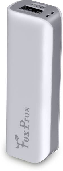 Foxprox 2600 MAh Power Bank (White, FX26H)