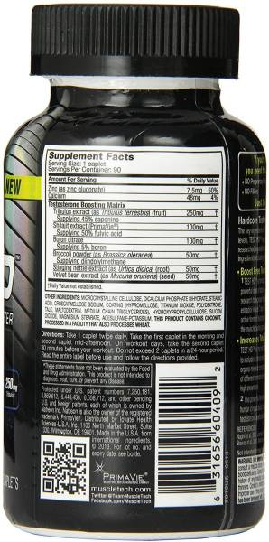 Buy MuscleTech Test HD Hardcore Testosterone Booster Dietary Supplements (90 PCS) Online at