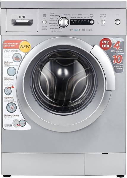 IFB 6 kg Fully Automatic Front Load Washing Machine (DIVA AQUA SX, Silver)