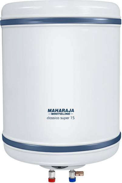 maharaja whiteline 15L Storage Water Geyser (Classico Super WH-131, Blue & White)