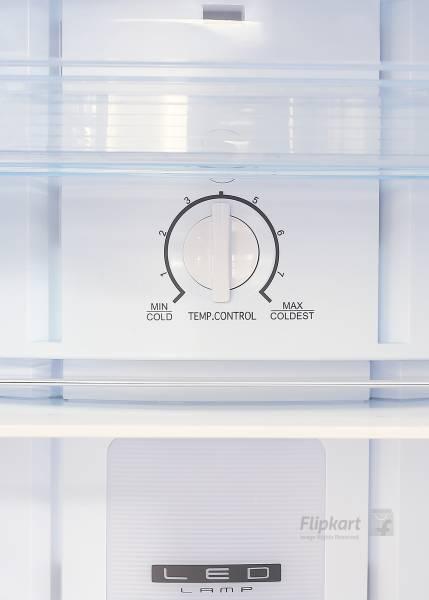 Haier 347 L Frost Free Double Door 3 Star Refrigerator (HRF3674BSR, Brushline Silver)