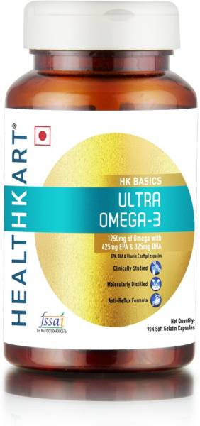 114ecc09e Buy HealthKart Ultra Omega-3 Capsules (90 PCS) Online at Lowest ...
