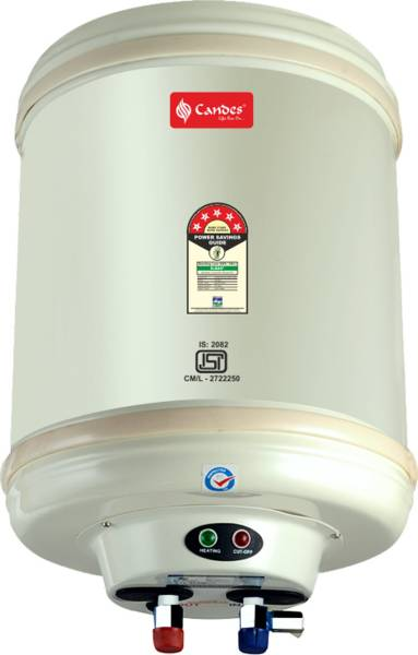 Candes 10L Storage Water Geysers (Metal, Ivory)