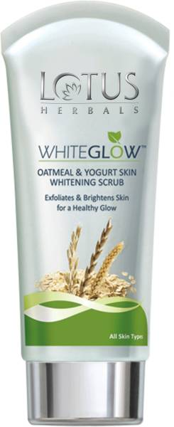 Lotus Herbals White Glow Oatmeal And Yogurt Skin Whitening Scrub (50GM)
