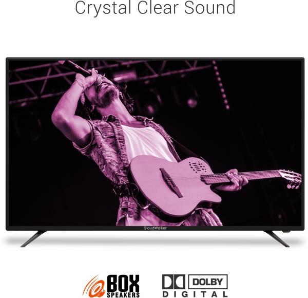 Cloudwalker 43 Inches Full HD LED Smart TV (CLOUD 43SF, Black)