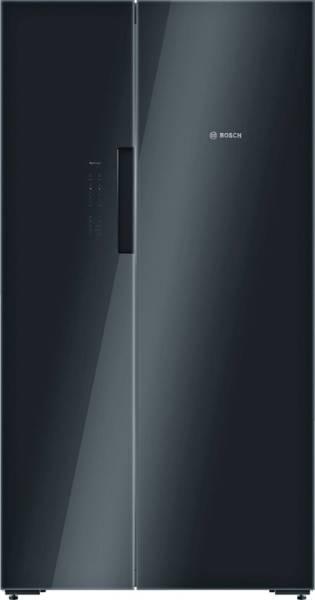 Bosch 655 L Frost Free Side by Side 5 Star Refrigerator (KAN92LB35I, Glass Black)