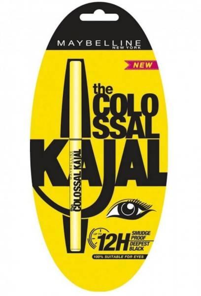 Maybelline New York Colossal Smudge Proof Kajal (Black, 15GM)