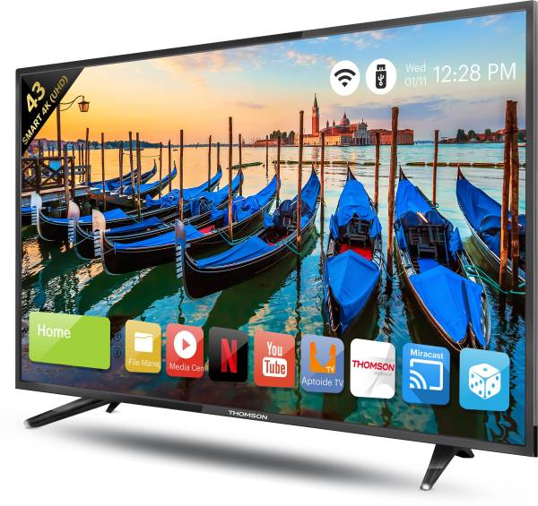 Thomson 43 Inches Ultra HD (4K) LED Smart TV (43TH6000, Black)