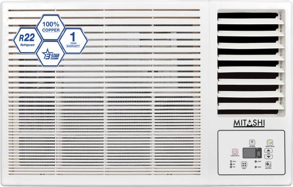 Mitashi 1 Ton 3 Star Window AC (Copper Condensor, MIWAC103V35, White)