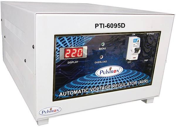 Pulstron PTI-6095D 6 KVA Automatic Voltage Stabilizer (Grey)