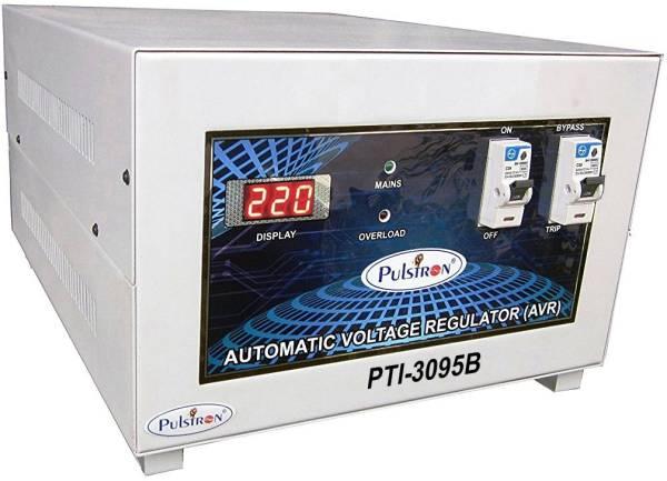 Pulstron PTI-3095B 3 KVA Automatic Voltage Stabilizer (Grey)