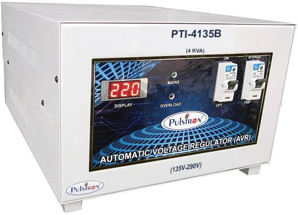 Pulstron PTI-4135B 4 KVA Automatic Voltage Stabilizer (Grey)