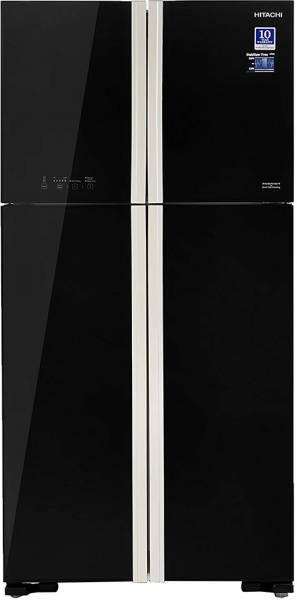 Hitachi 563 L Frost Free Side by Side Inverter Technology Refrigerator (RW610PND4, Glass Black)