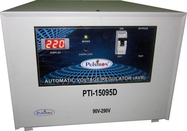 Pulstron PTI-15095D 15 KVA Automatic Voltage Stabilizer (Grey)