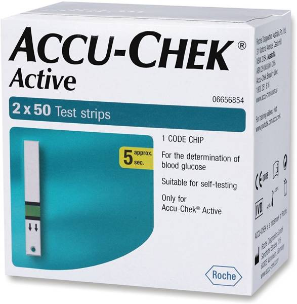Accu-Chek Active Glucometer Strips (100 Strips)