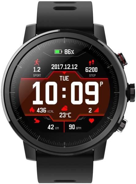 Amazfit Stratos Smartwatch (Black Strap, 32mm)
