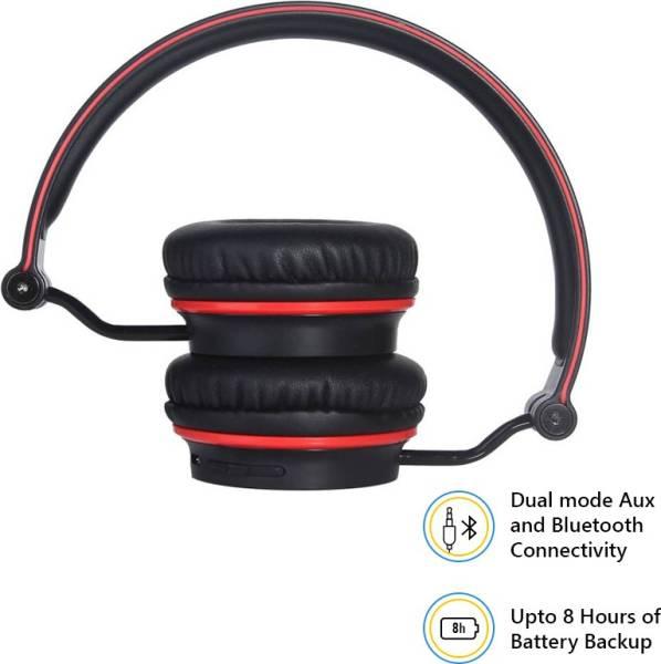 boAt Rockerz 400 Wireless Bluetooth Headphone (Red & Black)
