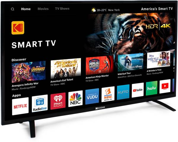 Kodak 50 Inches Ultra HD (4K) LED Smart TV (50UHDXSMART, Black)