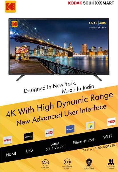 Kodak 50 Inches Ultra HD (4K) LED Smart TV (50UHDXSMART, Black)
