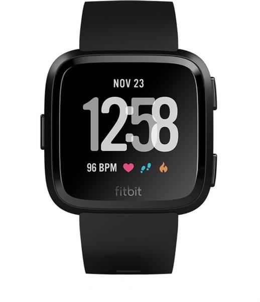Fitbit Versa Smartwatch (Black Strap, 34mm)