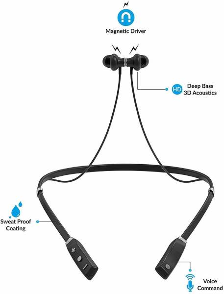 Sound One X60 Wireless Bluetooth Earphones (Black)