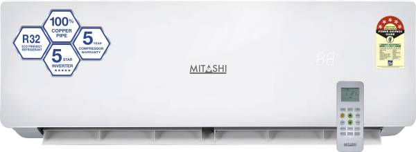 Mitashi 1 Ton 5 Star Inverter Split AC (Copper Condensor, MISAC105INV35, White)