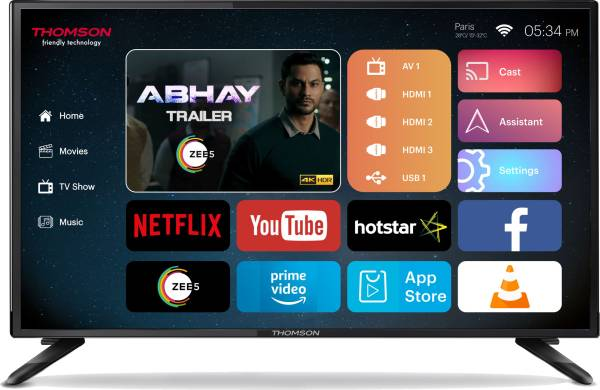 Thomson 40 Inches Ultra HD(4K) LED TV (40TH1000, Black)