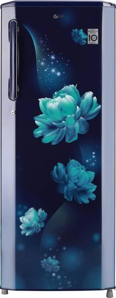 LG 270 L Direct Cool Single Door 3 Star Refrigerator (GL B281BBCX, Blue Charm)